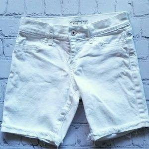 Abercrombie Kids White Pink Shorts Sz Girls 9-10